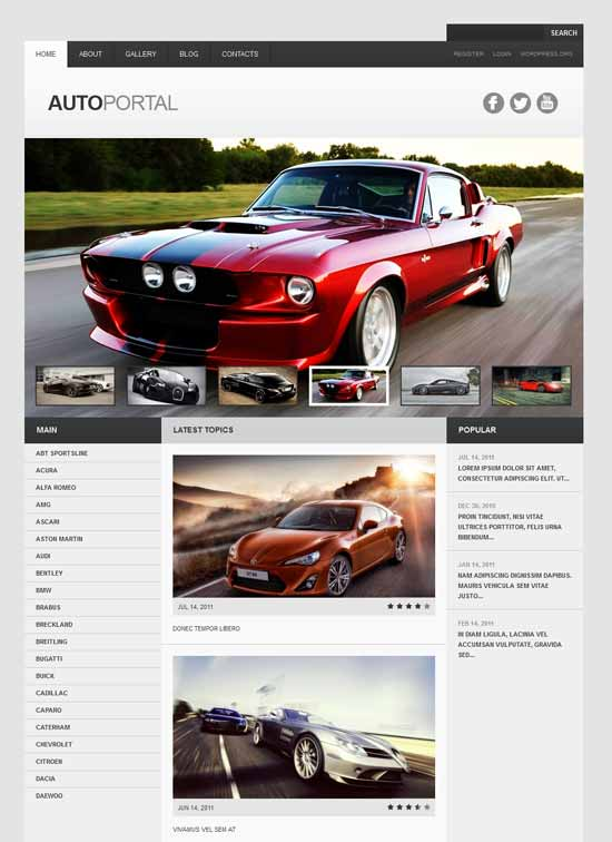 Auto Portal Webseite