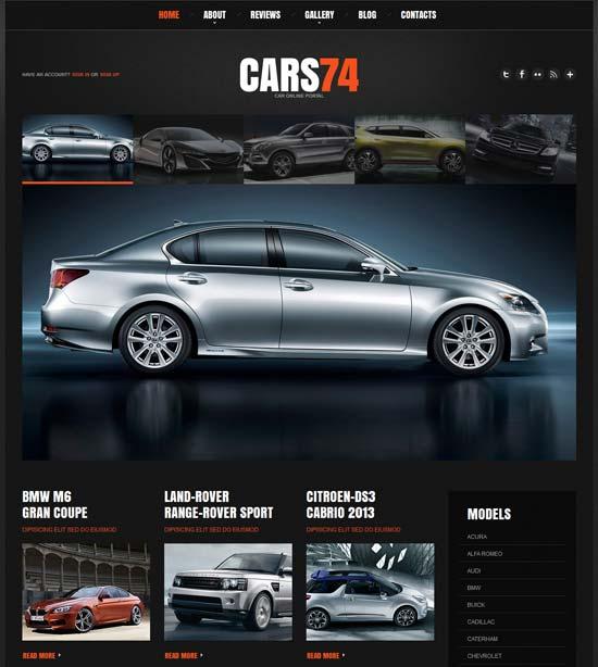 Autohersteller Webseite
