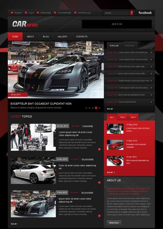 Rennwagen Webseite