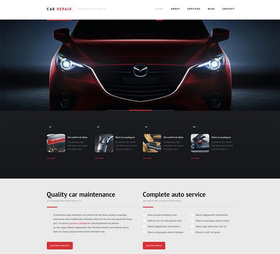 Fahrzeug Webseite