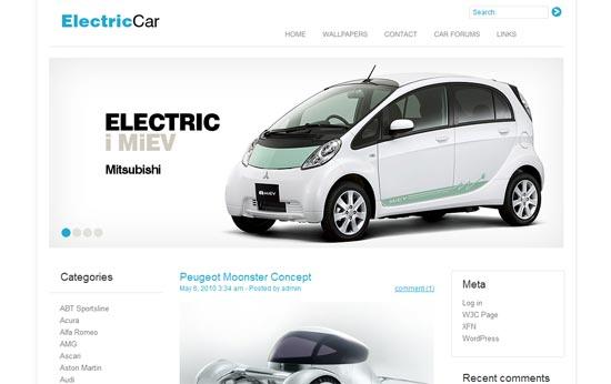 Elektroauto Webseite