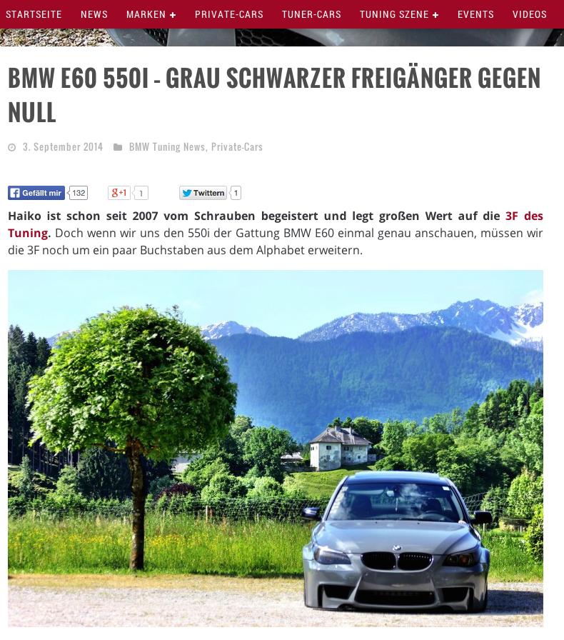 Tuning BMW E60 550i