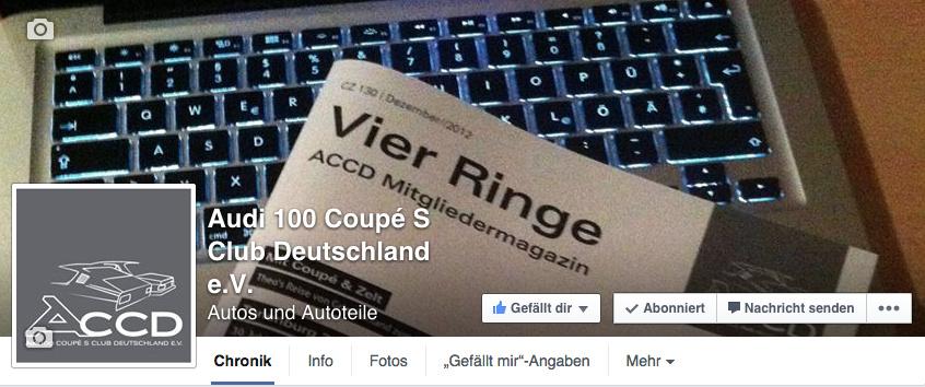 Audi 100 Coupe S Club Deutschland eV