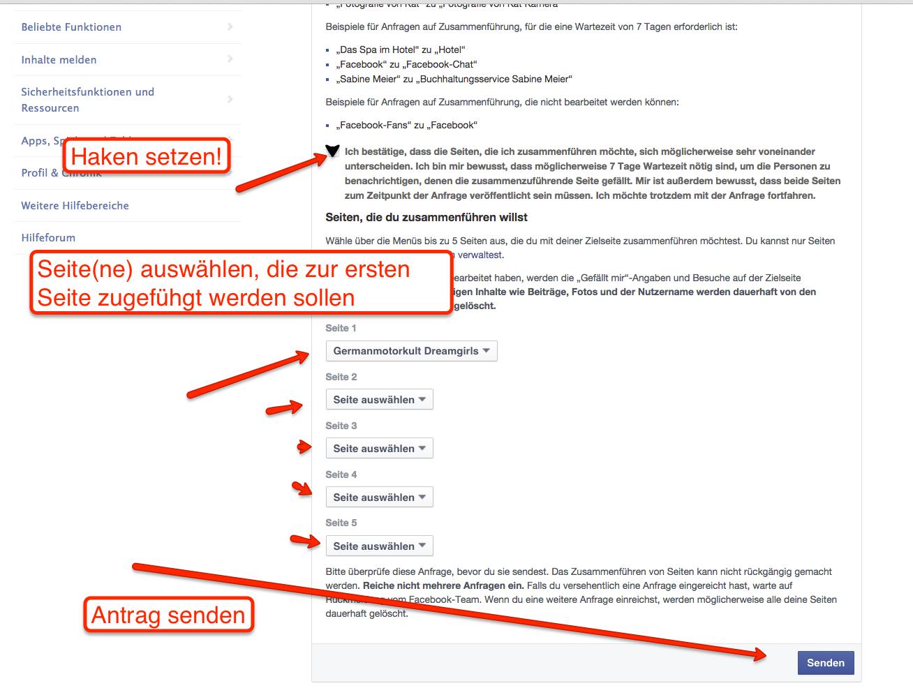 Facebook-Chat-Seiten