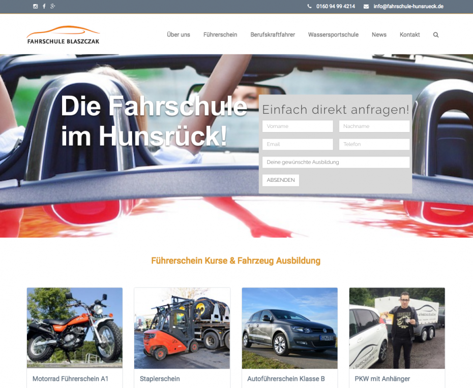 fahrschule-homepage-driving-school