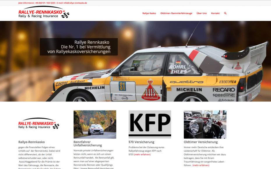 Rallye Rennkasko Motorsport Versicherung